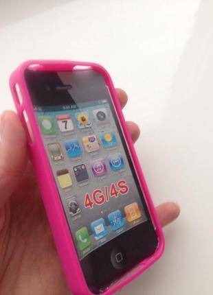 Чохол силікон iphone 4 4s новий