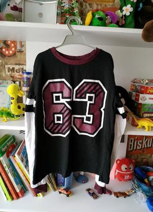 Кофта реглан футболка m&co на мальчика 13 лет, 158 см