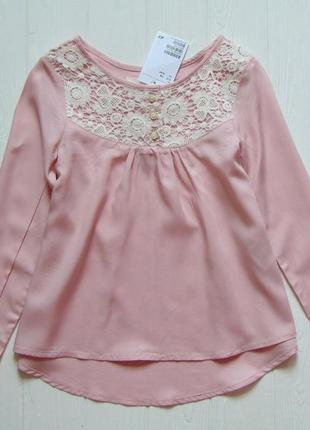 H&m. размер 5-6 лет. новая нежная блуза для девочки