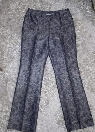 Шикарные классические брюки из парчи (mark aurel) р.38 (м)
