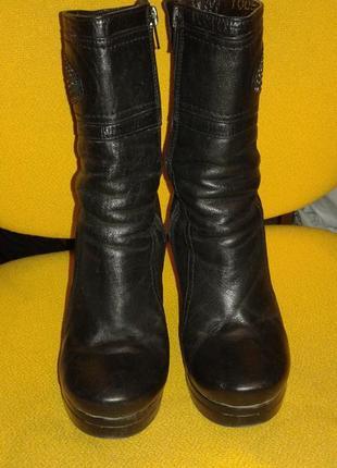 Шикарные ботинки - ботильоны из натуральной кожи roberto bartolini , размер 36, италия.
