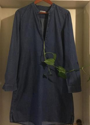 Брендовое джинсовое платье рубашка.