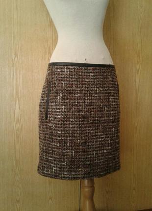 Полушерстяная пушистенькая юбка ,2xl -3xl.