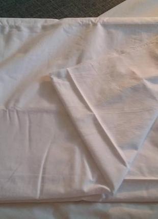 Комплект постельный белый пододеяльник  простынь евроразмер4 фото