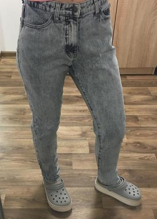 Джинсы mom бойфренды штаны брюки с высокой посадкой1 фото