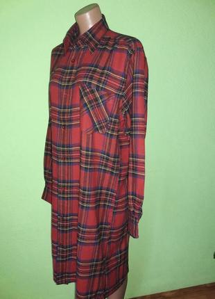 Актуальное фланелевое платье рубашка