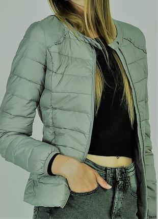 Женский оливковый пуховик куртка италия imperial шанель 80% натуральный пух s m