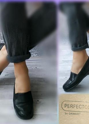 37-38р кожа!новые англия damart,черные туфли лоферы,мокасины