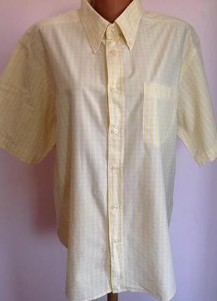 Мужская  котоновая рубашка в клетку. /xl/ brend ascot sport