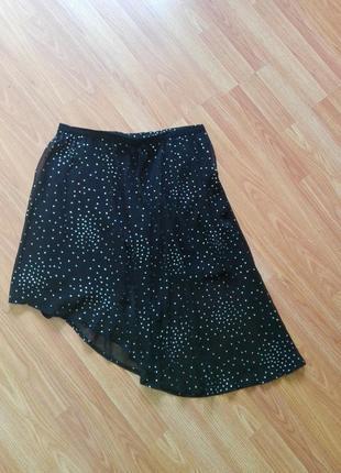 Асимметричная юбка с блестками нарядная