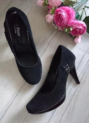Туфли замшевые р.37 (24,2 см)