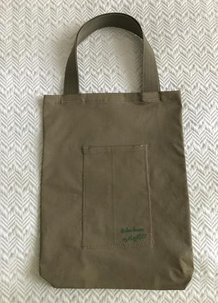Эко-сумка-шоппер-торба @don.bacon коричневая с рисунком кофе латте арт3 фото