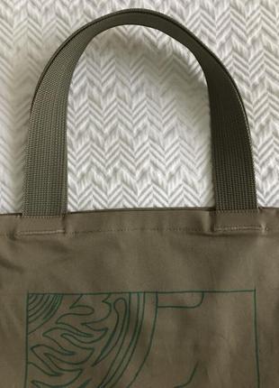Эко-сумка-шоппер-торба @don.bacon коричневая с рисунком кофе латте арт5 фото