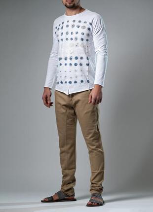 Белая кофта/пуловер с рисунком/лёгкий свитшот