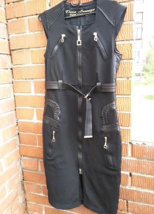 Шикарное бандажное сарафан платье 48-50
