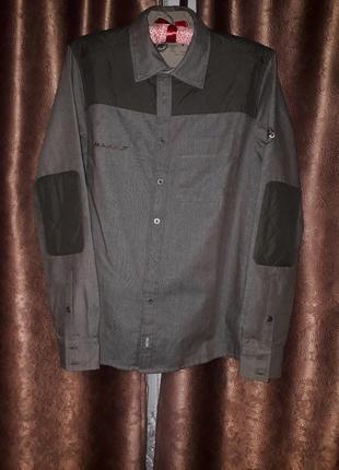 Оригинальная рубашка  со стеганными вставками от бренда mammut