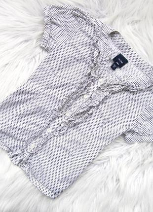 Стильная рубашка блузка  с коротким рукавом gap