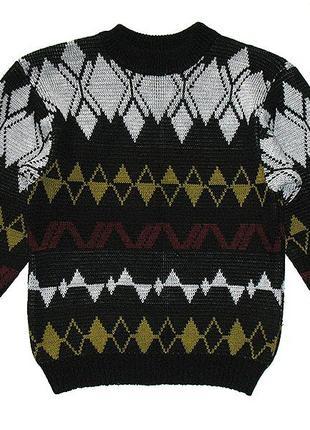 Свитер на мальчика 36-38/140-146 кофта зимняя джемпер пуловер шерстяной теплый вязаный