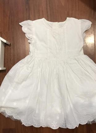 Платье легкое 12-18 мес