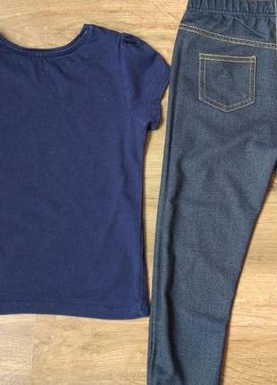 Комплект набор футболка и джегинсы легенсы на 3-5 лет3 фото