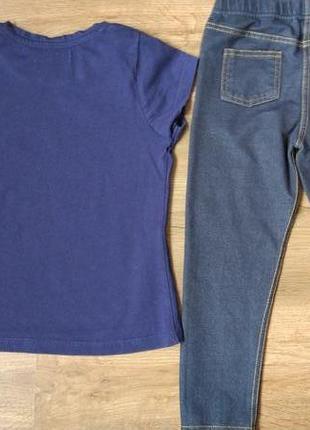 Комплект набор футболка и джегинсы легенсы на 3-4 года2 фото