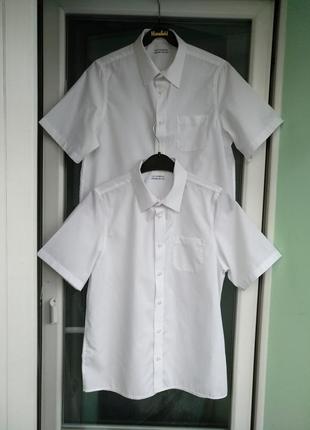 """Шведка """"m&s"""" non-iron р.164 на 13-14л белая школьная рубашка, можно близнецам"""