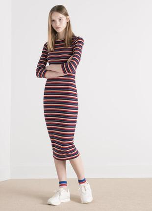Платье в полоску zara zara