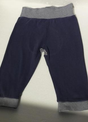 Mothercare. трикотажные тонкие штаны с полосатой попой. 9-12 месяцев.