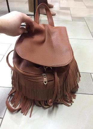 Рюкзак з бахрамою