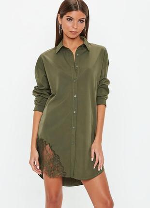 ❤️розпродаж sale до 7.07❤️ платье сорочка со вставкой кружева