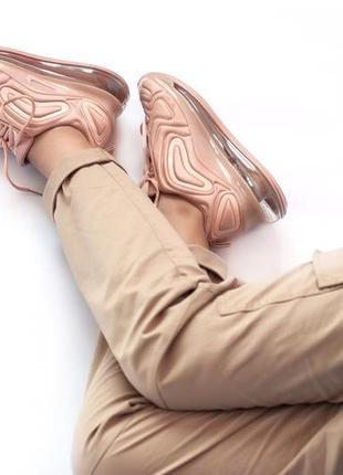 Шикарные женские кроссовки nike air max 720 pink3 фото