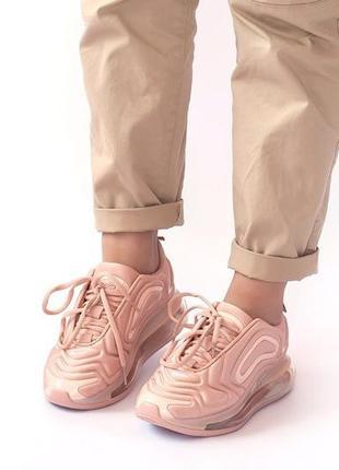 Шикарные женские кроссовки nike air max 720 pink5 фото