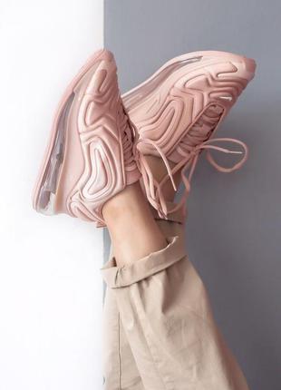 Шикарные женские кроссовки nike air max 720 pink4 фото