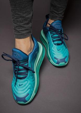 Шикарные кроссовки nike air max 720 blue2 фото