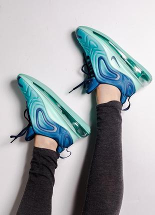 Шикарные кроссовки nike air max 720 blue3 фото