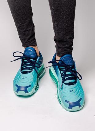 Шикарные кроссовки nike air max 720 blue5 фото