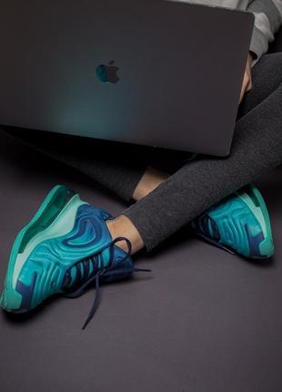 Шикарные кроссовки nike air max 720 blue7 фото