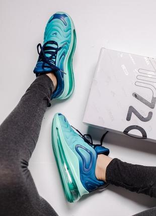 Шикарные кроссовки nike air max 720 blue8 фото