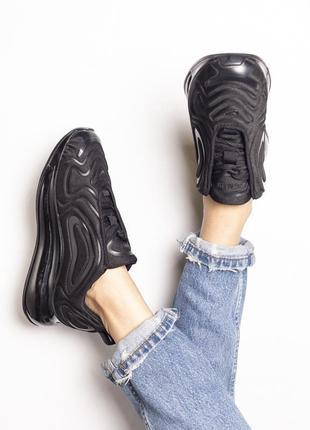 Шикарные кроссовки nike air max 720 black