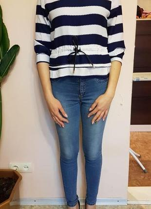 Блузка рубашка в полоску4 фото
