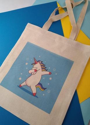 Эко-сумка единорог, киев экосумка единорожек, шоппер, екосумка єдиноріг, авоська, торба