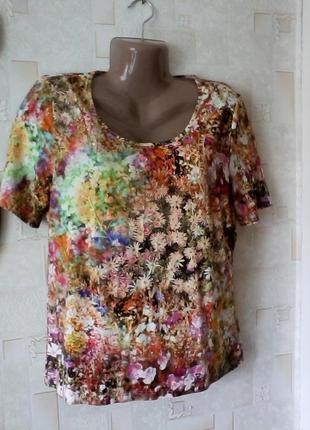 Красивейшая вискозная футболка  от люкс бренда - peter hahn, разм. 48-50