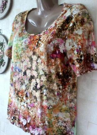 Красивейшая вискозная футболка  от люкс бренда - peter hahn, разм. 48-502 фото