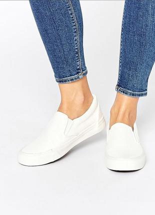 Стильные белые кеды слипоны new look 37р.