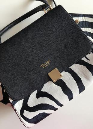 Черно-белая сумка celine