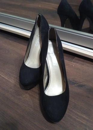 Туфли замшевые чёрные