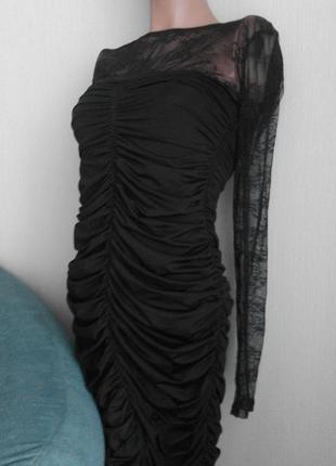 Cтильное сексуальное черное коротенькое платье2 фото