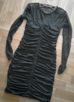 Cтильное сексуальное черное коротенькое платье5 фото