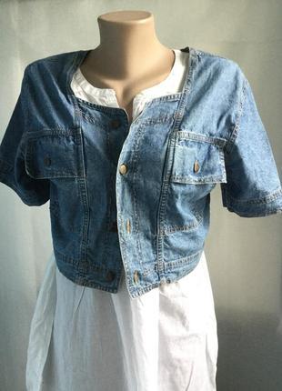 Легкая джинсовая курточка blue nile