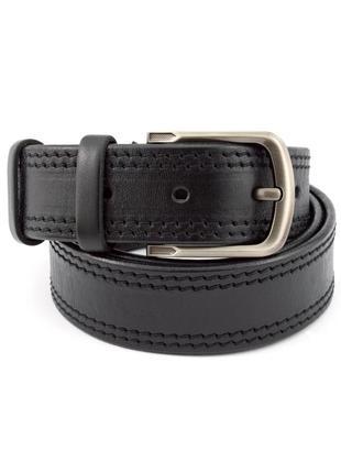 Ремень мужской кожаный kb-40-02 black (4 см)